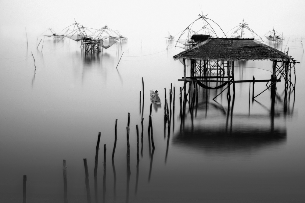 A piece of fine art art photography titled Into the Wetland by Ekkachai Khemkum