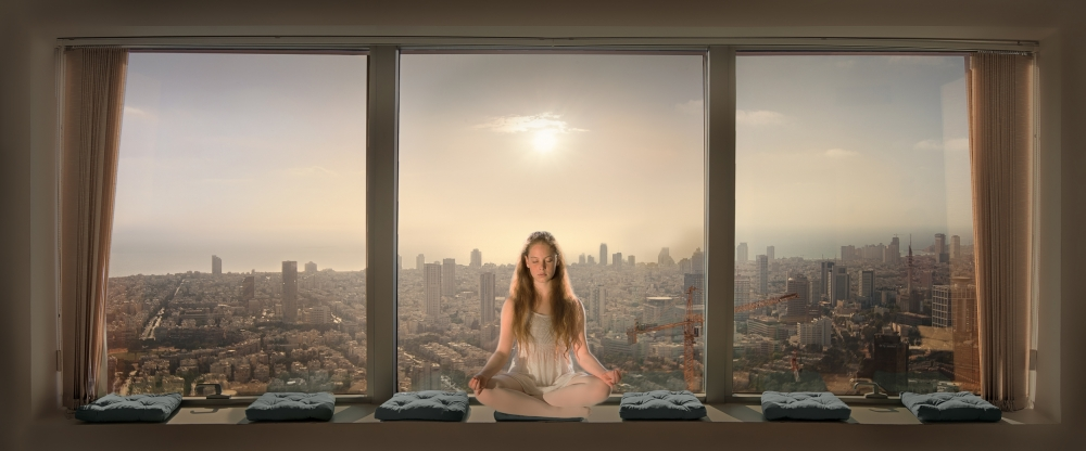 A piece of fine art art photography titled Urban Serenity by Nadav Jonas