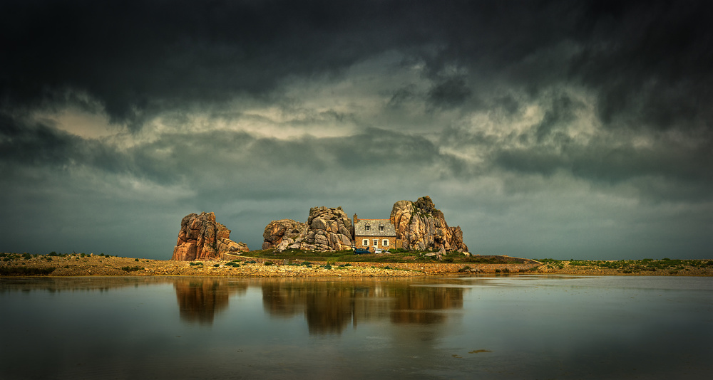 A piece of fine art art photography titled House by Krzysztof Browko