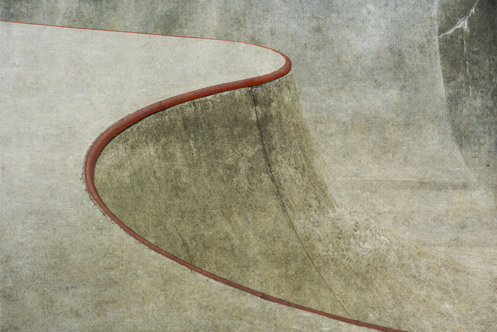 A piece of fine art art photography titled The Red Curve by Greetje van Son