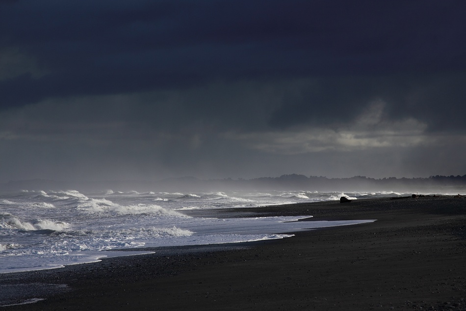 A piece of fine art art photography titled Okarito Beach at Dawn by Tim Boucher