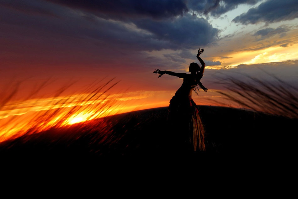 A piece of fine art art photography titled Flamenco Sunset by Phil Ryan