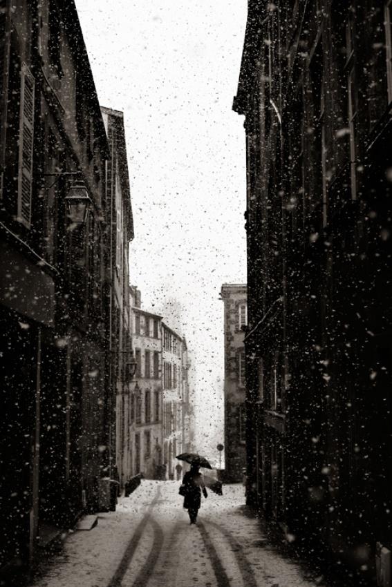 A piece of fine art art photography titled La Passante by Hippolyte