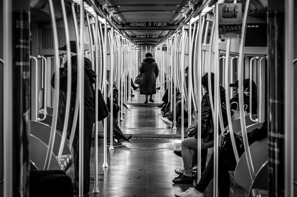 A piece of fine art art photography titled Metro by Mario Maccantelli