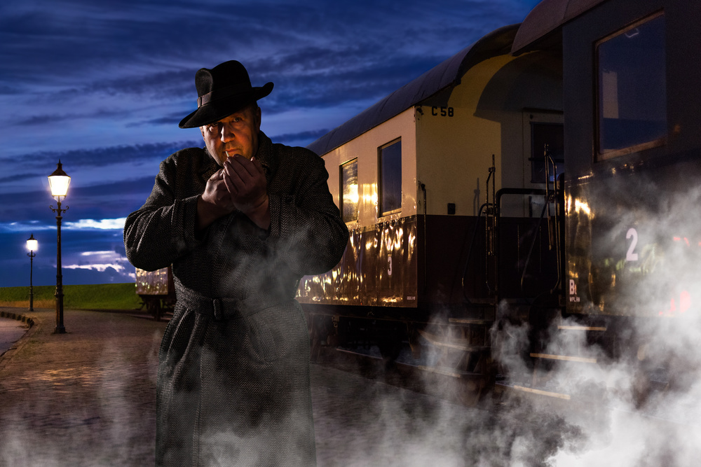 A piece of fine art art photography titled Leaving On the Midnight Train by Tom Baetsen - xlix.nl
