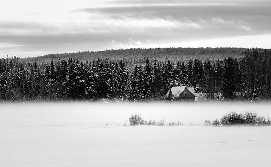 A piece of fine art art photography titled Behind the Curtain of the Mist by Joni Niemelä