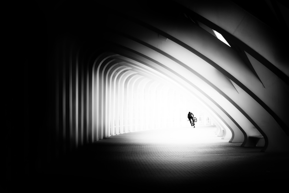 A piece of fine art art photography titled The Tunnel by Juan Luis Duran