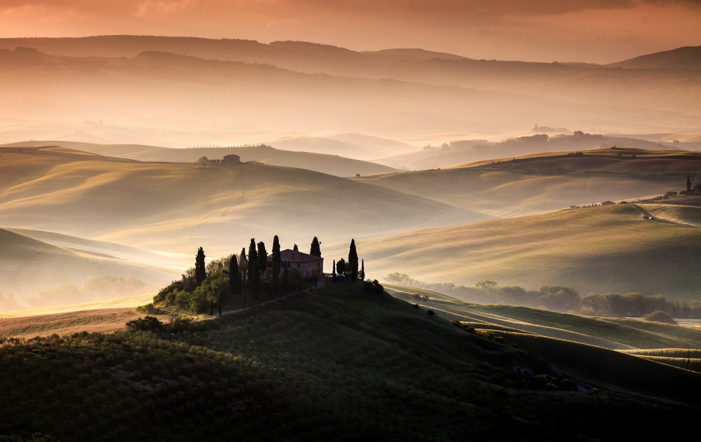 A piece of fine art art photography titled A Tuscan Country Landscape by Sus Bogaerts