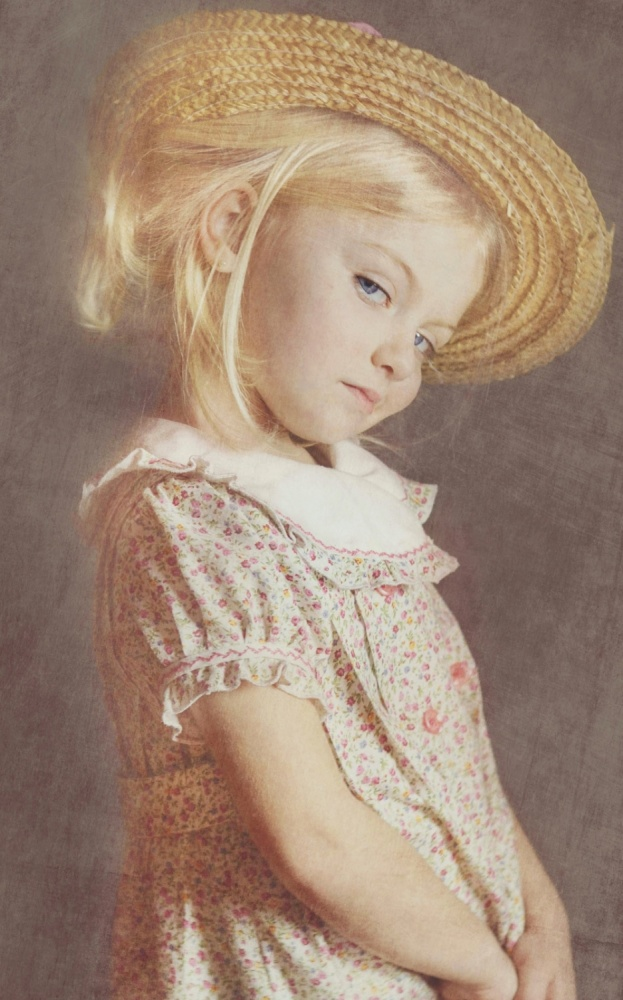 A piece of fine art art photography titled A Straw Hat for a Princess by Marta Everest