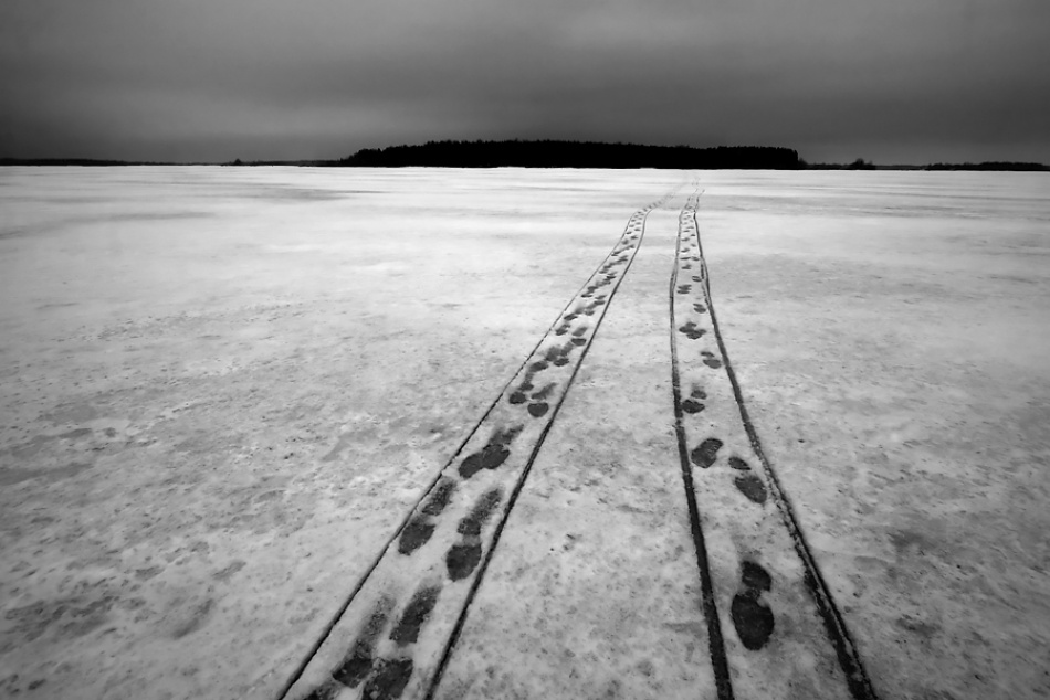 A piece of fine art art photography titled Walk Way by Marko Mladovan