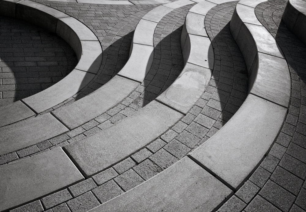 A piece of fine art art photography titled Curves by Henk van Maastricht