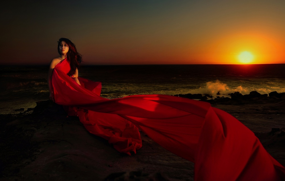 A Red and the Sunset