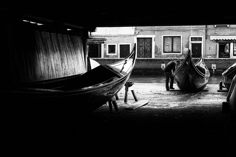 A piece of fine art art photography titled Gondole by Massimo Della Latta