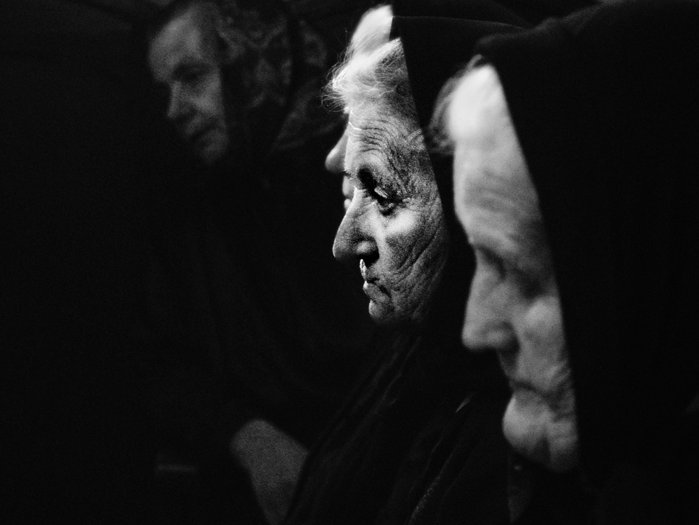 A piece of fine art art photography titled White Age Widows by nicoleta gabor