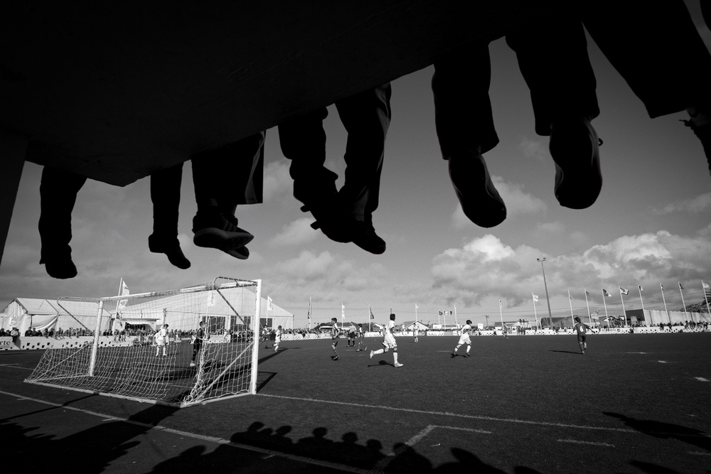 A piece of fine art art photography titled Football by Isidro Vieira