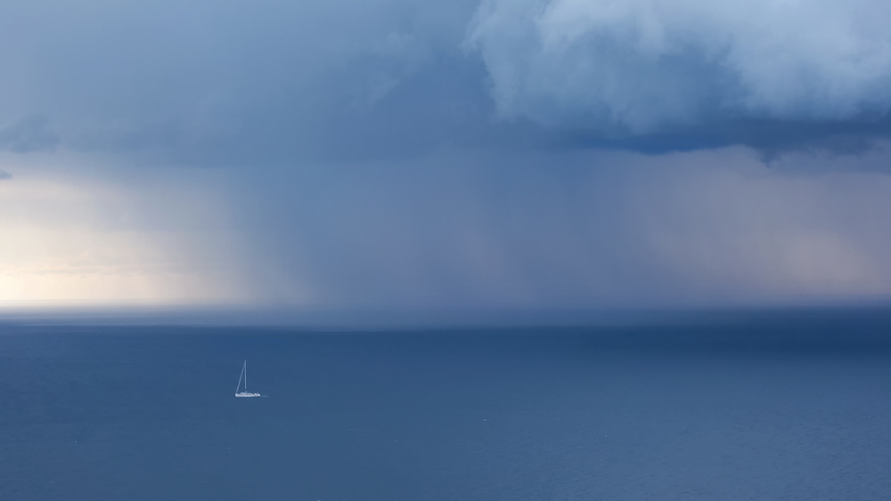 A piece of fine art art photography titled There's Rain Coming by Uschi Hermann