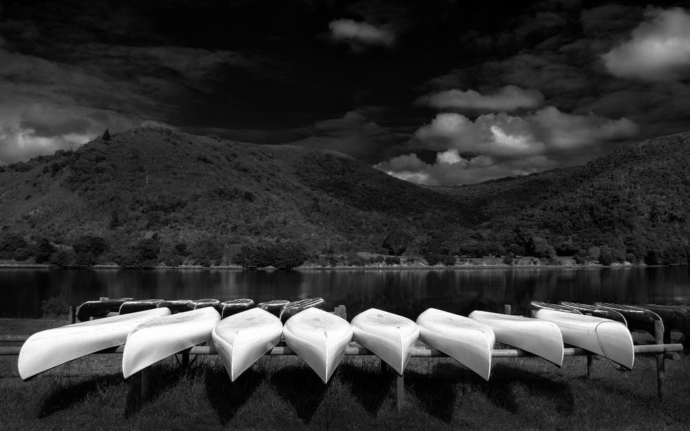 A piece of fine art art photography titled Drydock by Hans-Wolfgang Hawerkamp