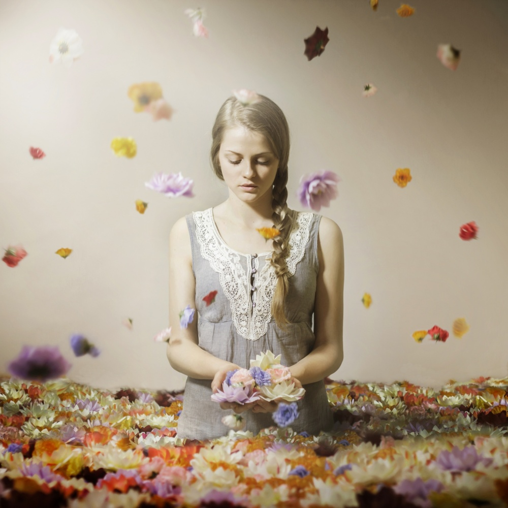 A piece of fine art art photography titled The Flower (Dream Series) by Michal Zahornacky