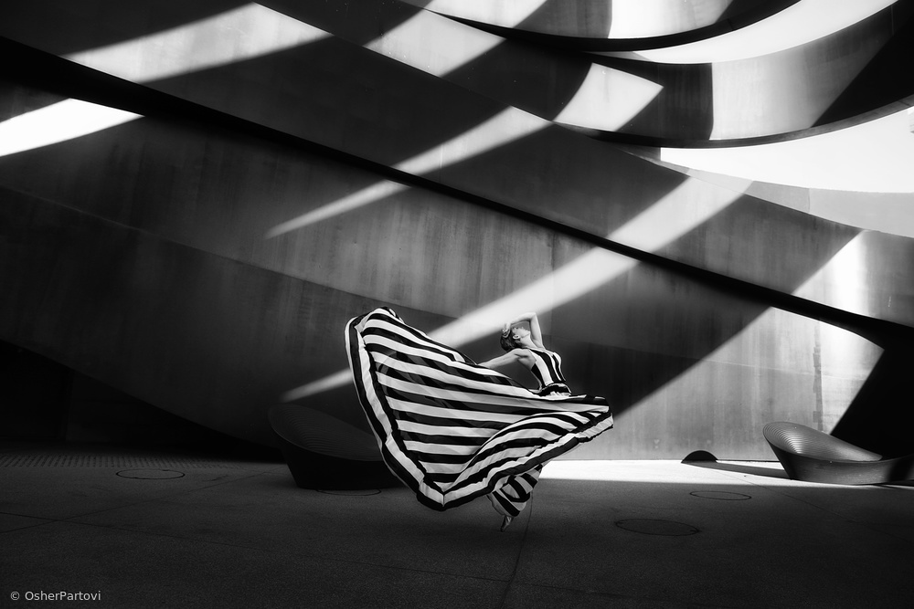 """View this piece of fine art photography titled """"Stripes motion"""" by Osher Partovi"""