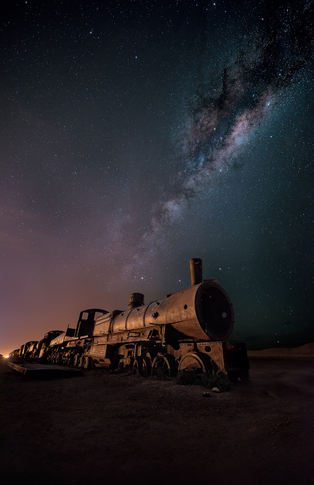 View this piece of fine art photography titled Night On The Galactic Road... by Tony  Xu