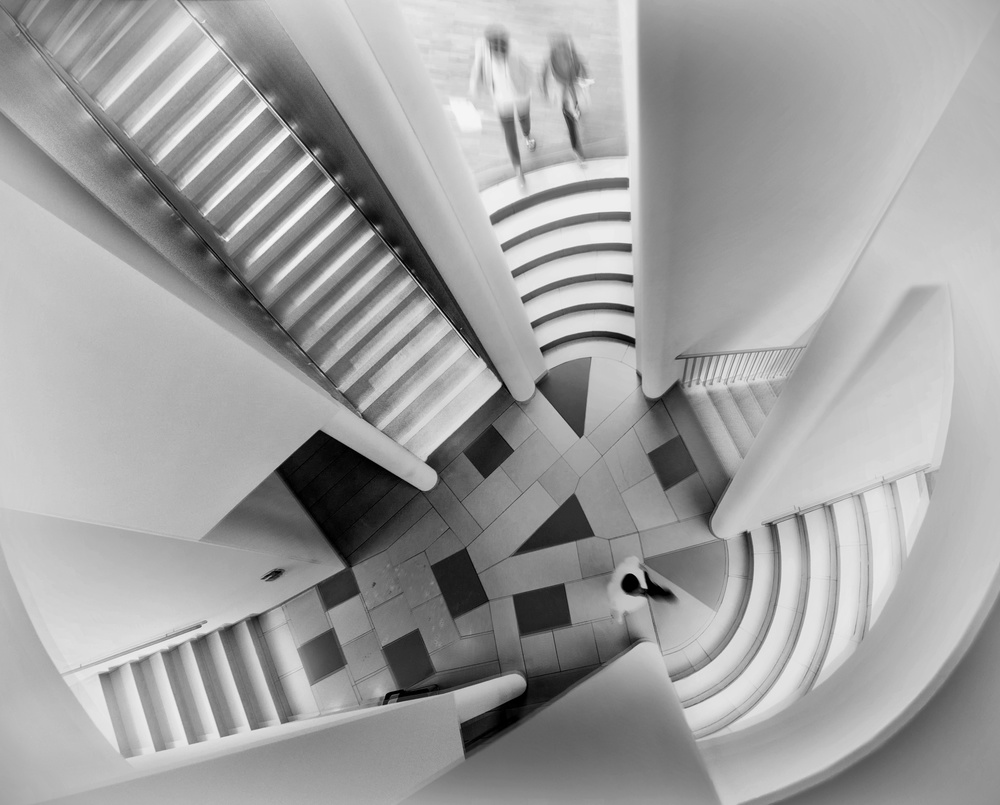 A piece of fine art art photography titled Stairs In Circle by margit lisa roeder