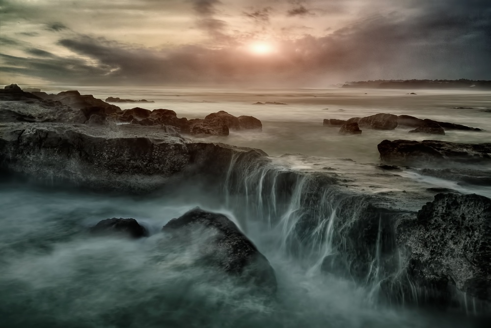 A piece of fine art art photography titled Mangening Beach Bali Indonesia by teddy hariyanto