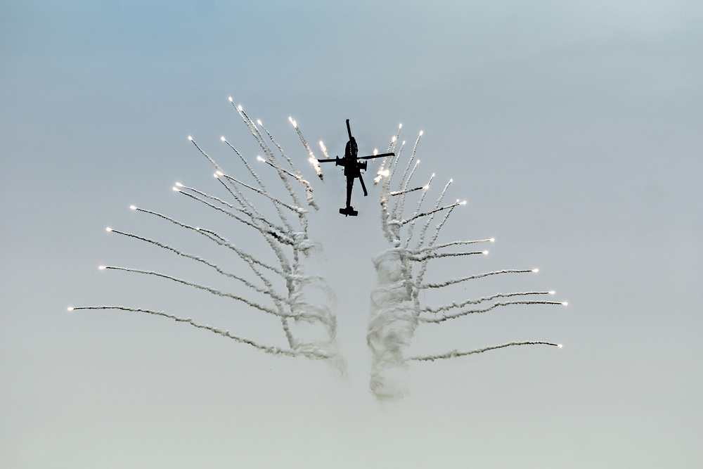 A piece of fine art art photography titled Show of Force by Erhard Batzdorf