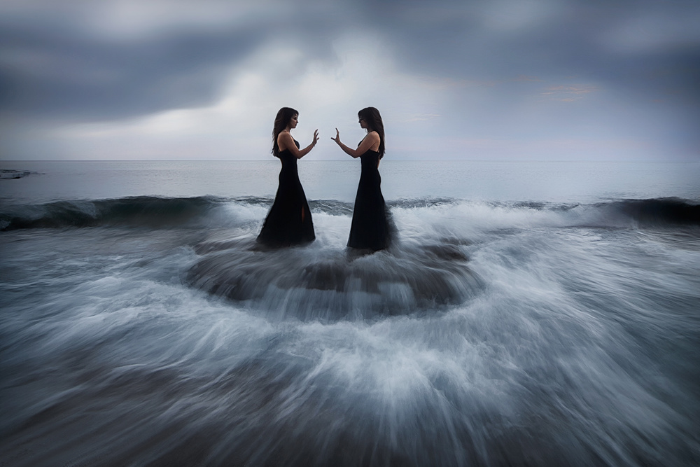 A piece of fine art art photography titled Encounters by Maria Kaimaki