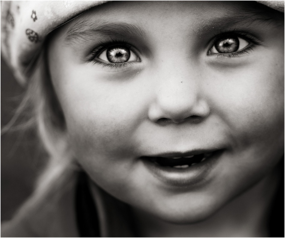 A piece of fine art art photography titled The Girl With the Eyes by Elin Torger