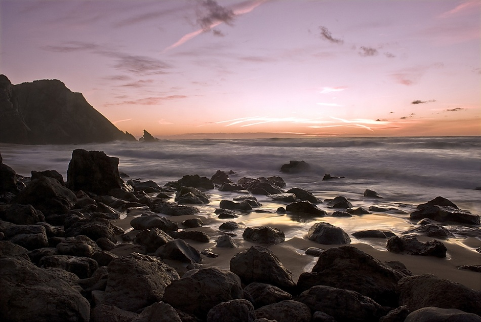 A piece of fine art art photography titled Adraga Beach by ppinho