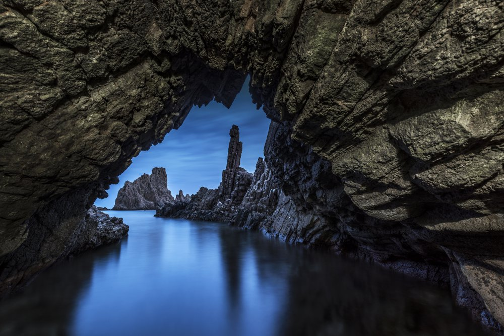 A piece of fine art art photography titled Cave by Manuel Jose Guillen Abad