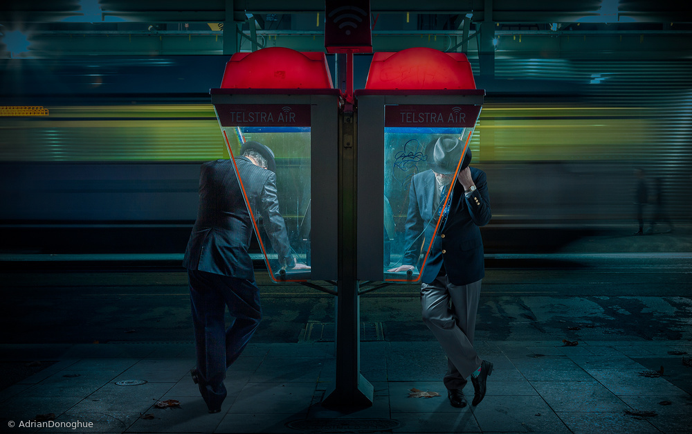 View this piece of fine art photography titled Telephones by Adrian Donoghue