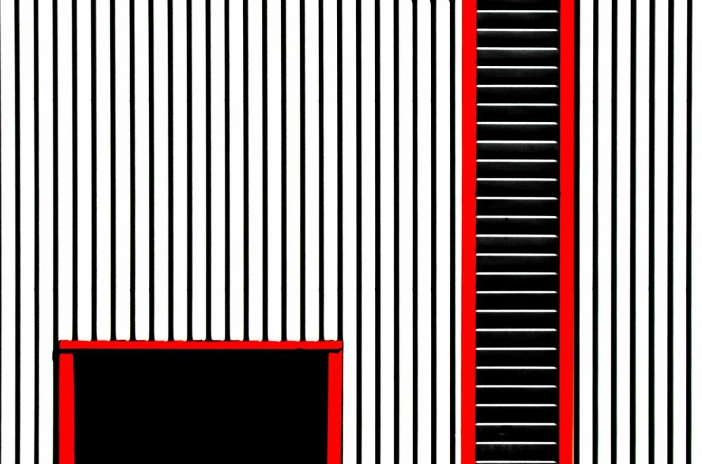 A piece of fine art art photography titled Red Frame by Stuart Allen