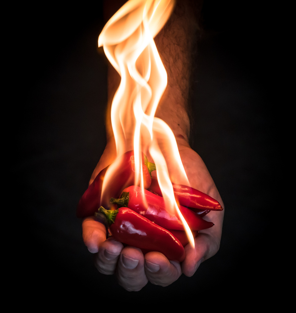 A piece of fine art art photography titled Red Hot Chili Peppers by Mike Melnotte
