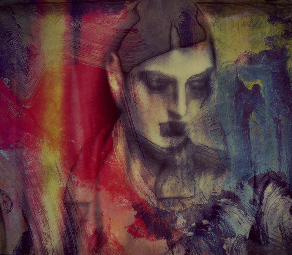A piece of fine art art photography titled Shade of Darkness (portrait) by Dalibor Davidovic