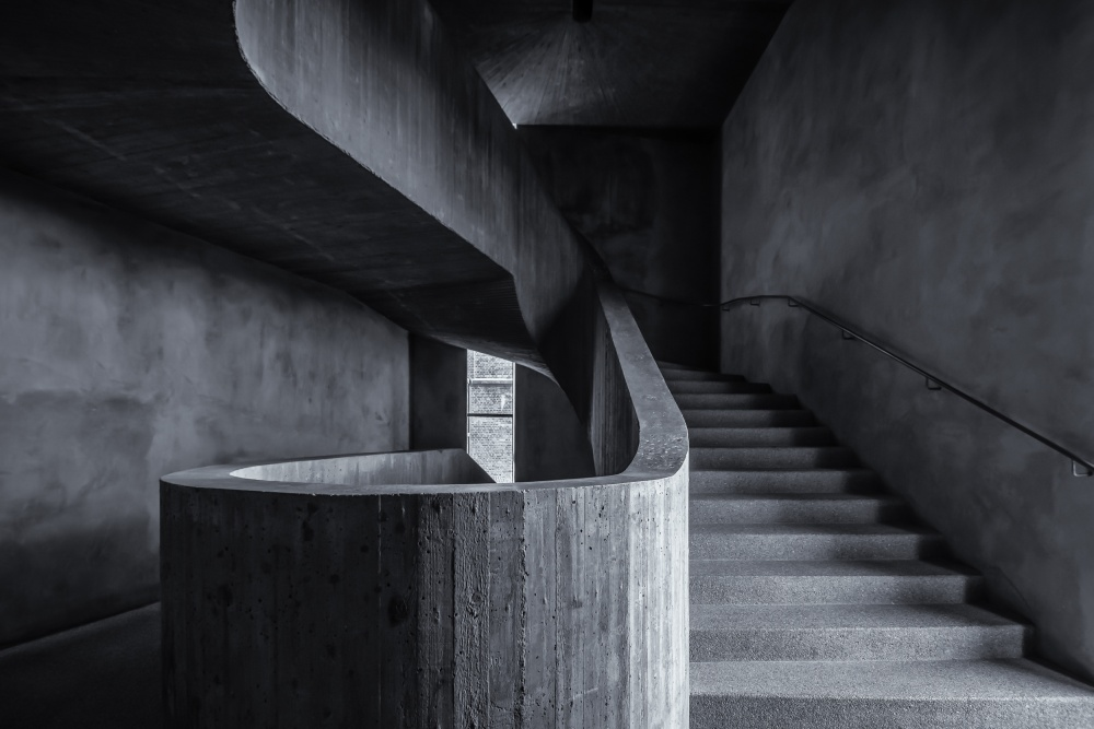 im Treppenhaus