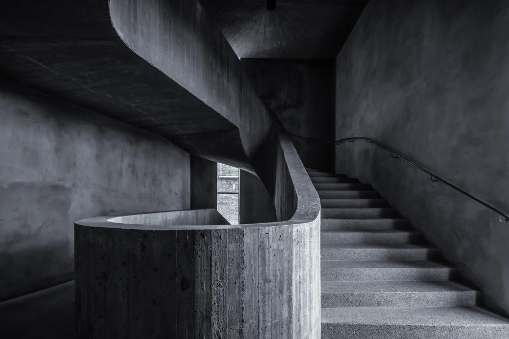 A piece of fine art art photography titled Im Treppenhaus by fernando.rujano