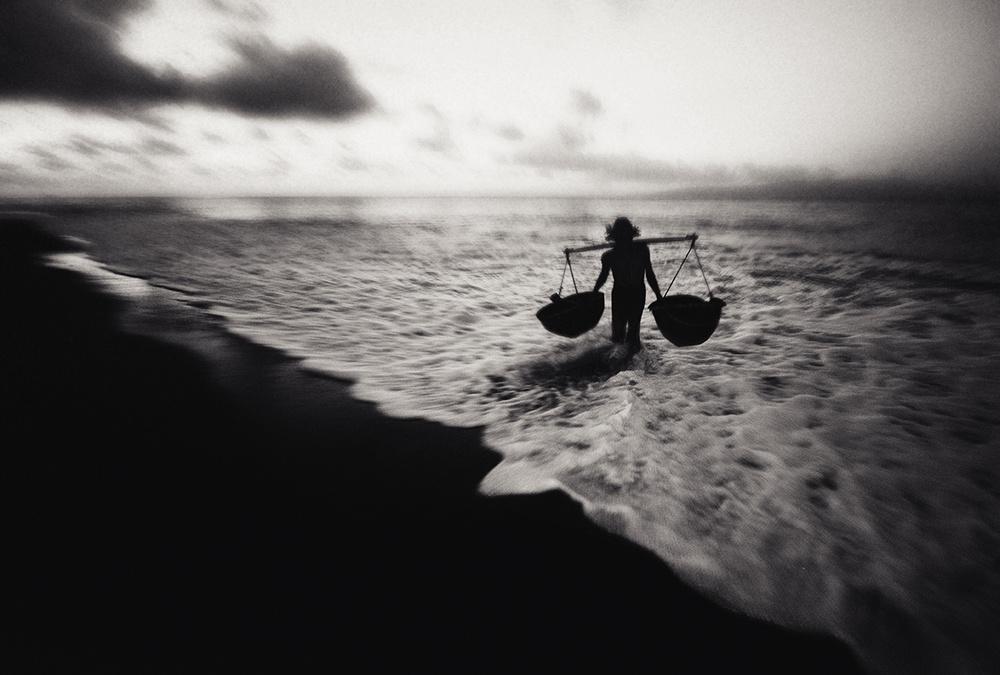 A piece of fine art art photography titled Salt Farmers by akhmad noor