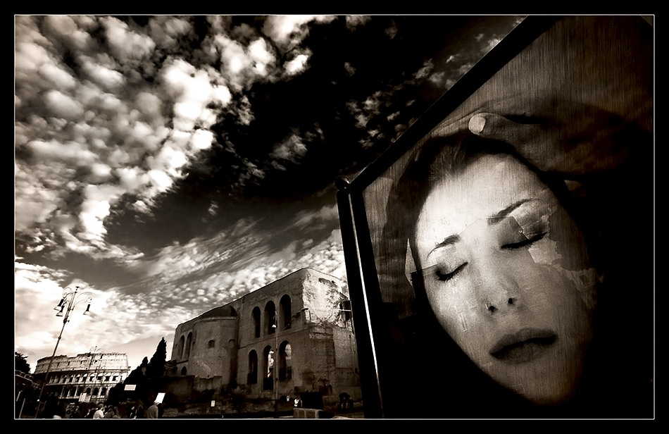 A piece of fine art art photography titled Street Emotions by Franco Farina
