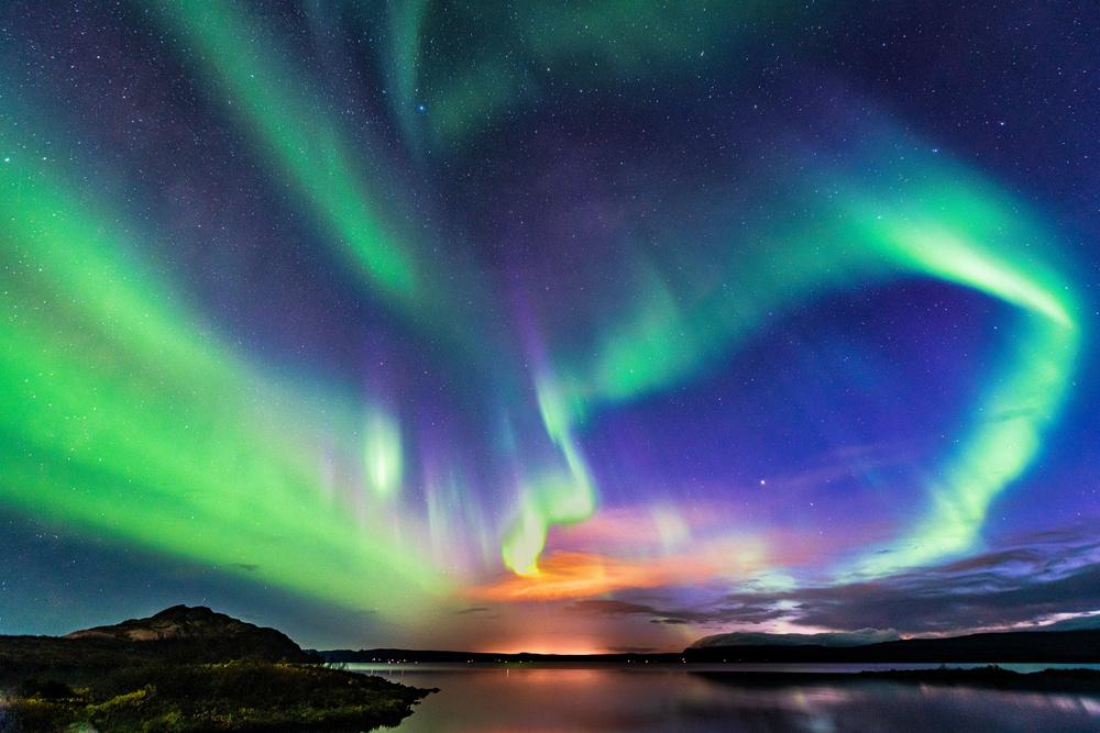 The aurora in Iceland