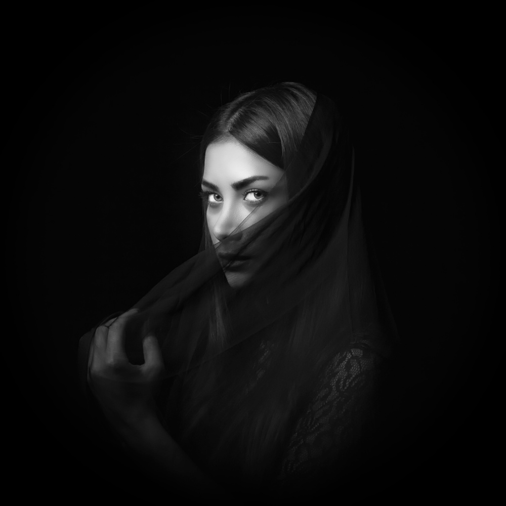 A piece of fine art art photography titled Baran by Mehdi Mokhtari