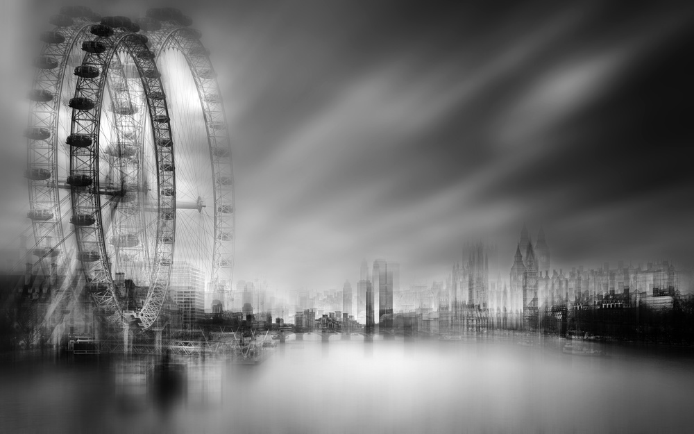 A piece of fine art art photography titled Foggy City by aRRO