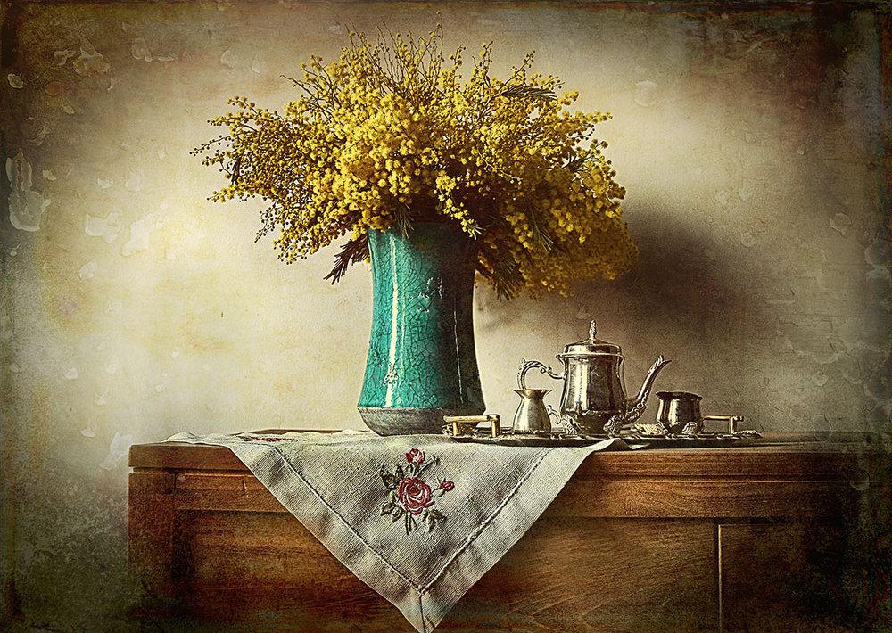 View this piece of fine art photography titled mimosa flower by Iwona Nabzdyk