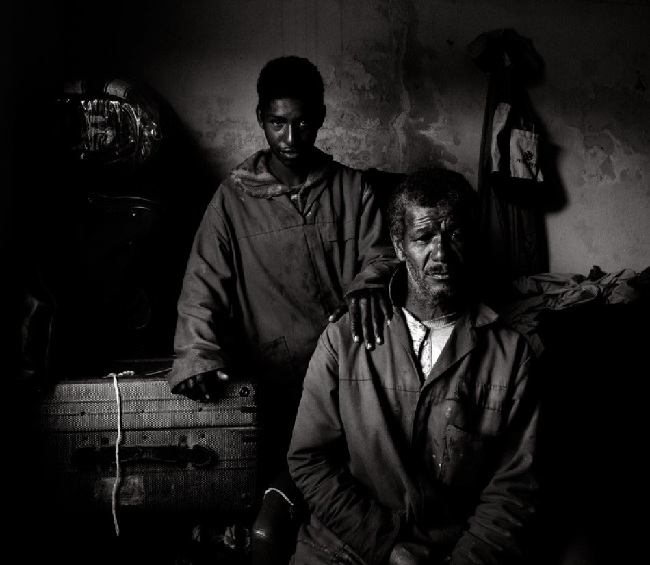 A piece of fine art art photography titled Father & Son by Andre du Plessis FRPS
