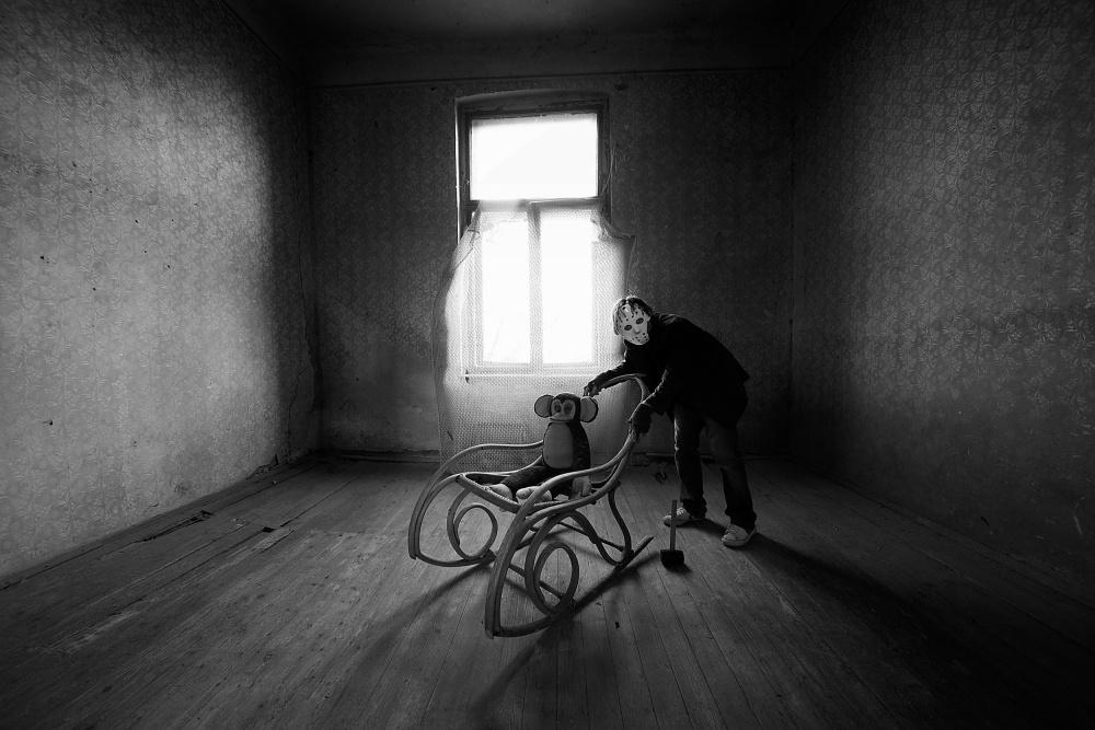 A piece of fine art art photography titled Leave My Monkey Alone by mario grobenski - psychodaddy