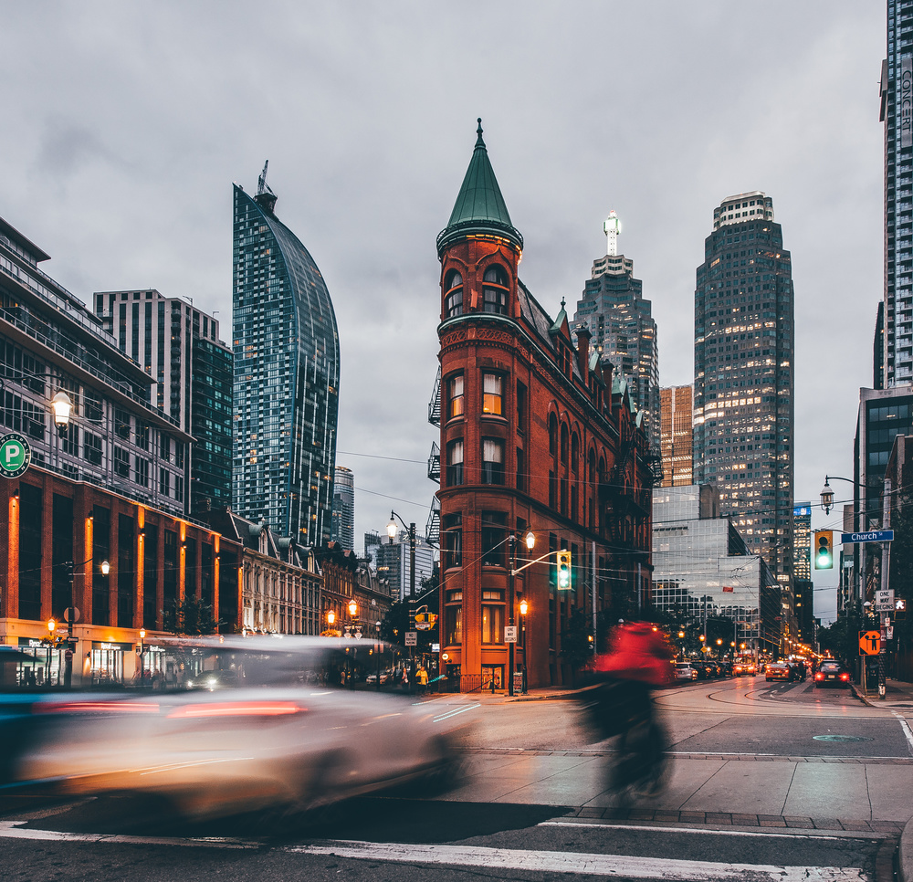 A piece of fine art art photography titled Gooderham Building by Carmine Chiriaco