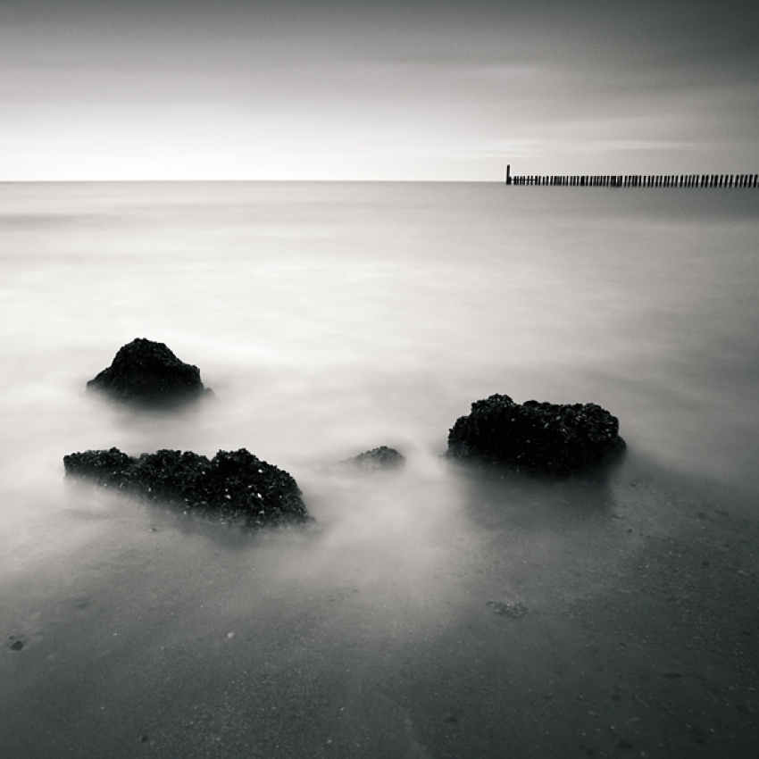 A piece of fine art art photography titled Three Rocks by Arkadius Zagrabski