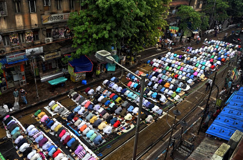 A piece of fine art art photography titled Prayer of Ramadan Eid by Avishek Das