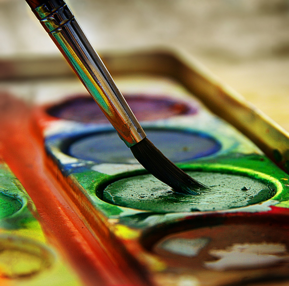 A piece of fine art art photography titled Paint Box by Utzel-Butzel