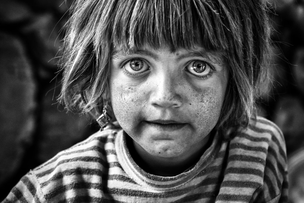 A piece of fine art art photography titled A Girl With Big Eyes by Mohammadreza Momeni